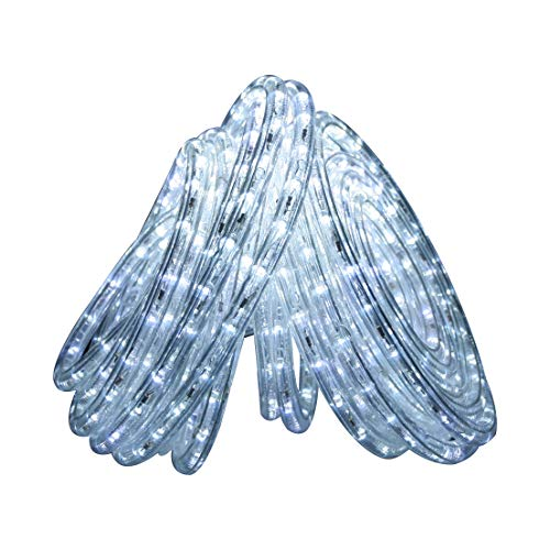 Direct-Lighting 50ft Super Bright Heavy Duty Cool White Rope Lights with 600 LEDs - Expandable to 200 Ft.