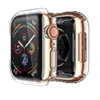 [clear case ]: This case compatible with apple watch series 6/ SE/ series 5/series 4 40mm. [precise cutout]: This 40mm screen protector was designed with precise cutouts for functional buttons and ports. [ultra slim]: This 40mm case front cover is on...