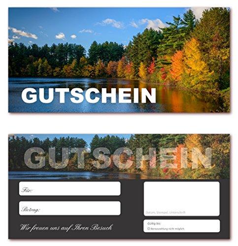 10 Stück Geschenkgutscheine (Waldsee-623) Gutscheine Gutscheinkarten für Bereiche wie Reisen, Urlaub und Wellness