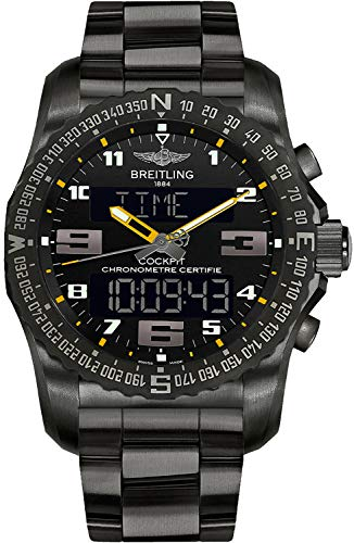 Men's Breitling Cockpit B50 Black Titanium 46mm Watch VB5010A4/BD41-176V