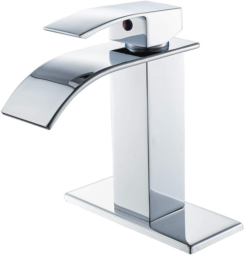 chrome bathroom faucet waterfall single handle single hole bathroom sink faucet washbasin faucet with deck