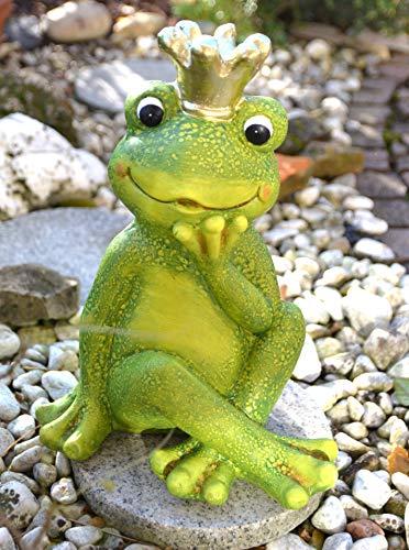 Maison en France Frosch-Froschkönig mit Krone -stabile Ausführung für Haus und Garten
