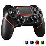 PS4 Controller ORDA Wireless Gamepad for Playstation 4/Pro/Slim/PC and Laptop with Motion Motors and Audio Function, Mini LED Indicator, USB Cable and Anti-Slip - Red