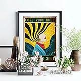 Vspgyf Meditation Vintage Prints Poster Dhyana Wandbild