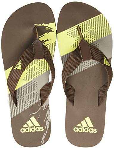 Adidas Men's ARIL ATTACK II MS Swim Slipper (EW2216_BROWN/LABLIM/DOVGRY_11 UK