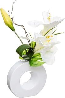 Atmosphera - Composition Florale Artificielle Vase en céramique H 46 cm