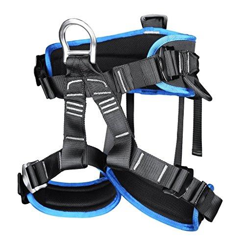 Professionelle Klettergurte Sicherheitsgurt Baumpfleger mit Einstellbar Taille für Bergsteigen Klettern Outdoor Blau