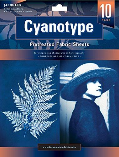 Jacquard Cyanotype Prétraitez Feuilles de Tissu 10-Pack 8,5 X 11