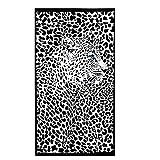 Bwinka telo mare asciugamano in morbida microfibra di spugna, extra grande, leopardato, sexy, da donna e uomo