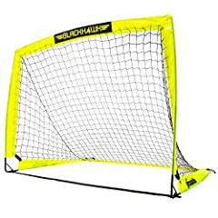 Durable construction: Our durable, weather-resistant soccer goals make practicing shots fun and easy. Now you can take a pop-up soccer net anywhere with the confidence that it will last, season after season Portable transport: The fiberglass and stee...