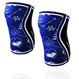 BB BANBROKEN Rodilleras Blue Draw (2 unds) - 5mm Knee Sleeves - Halterofilia, Deporte Funcional, Crossfit, Levantamiento de Pesas, Running y Otros Deportes. Unisex 1 PAR Azul (M)