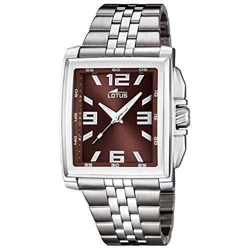 LOTUS Herren-Uhr - Stahlband klassisch - Analog - Quarz - Edelstahl - UL15994/3