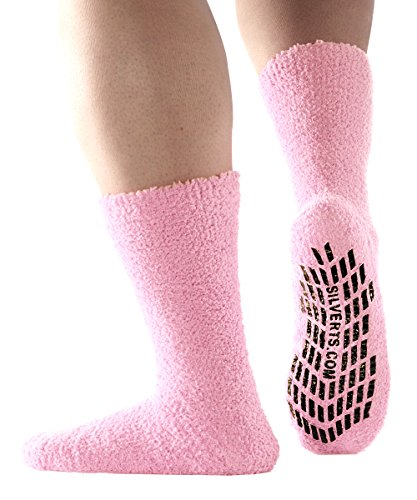 XL Large Slipper Socks - Non Skid Hospital Socks for Women/Men