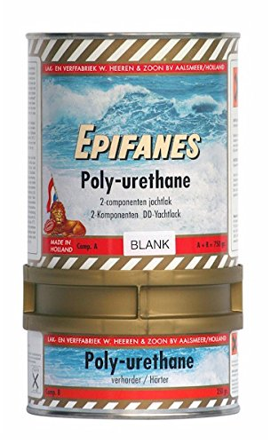 EPIFANES PU-Lack Weiss 750g incl. Härter E4-800 Poly-Urethane Lack mit UV Schutz DD-Yachtlack