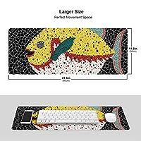 高級感 マウスパッド 草間彌生 大型 おしゃれ 滑り止め 防水軽減 疲労 水洗 耐久性ゲーミング オフィス最適 超大型 ゲーミングマウスパッド30*80cm