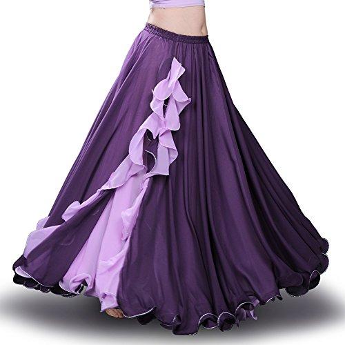 ROYAL SMEELA da Donna, per la Danza del Ventre Abbigliamento Gonna,Purple
