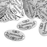 100 bottoni fatti a mano in metallo, ciondoli fatti a mano, per fai da te, gioielli, accessori fatti a mano, accessori per abbigliamento, decorazione fai da te