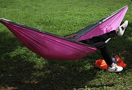 YSCYLY Camping Hangmat, Enkel/Dubbele Nylon hangmat, Voor Outdoor Wandelen Reizen Rugzak