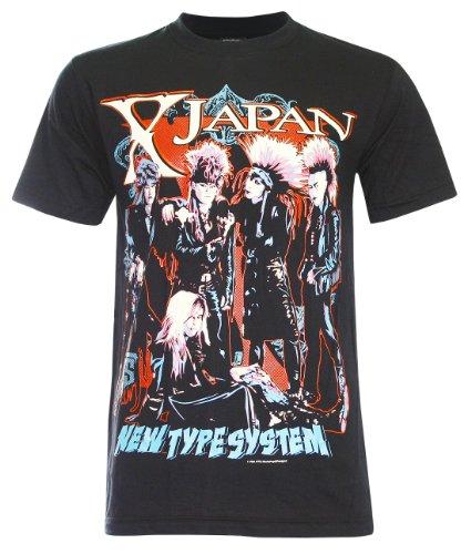 (パラス)PALLAS X Japan Japanese Heavy Metal T-Shirt (NS048) (XL,Black)