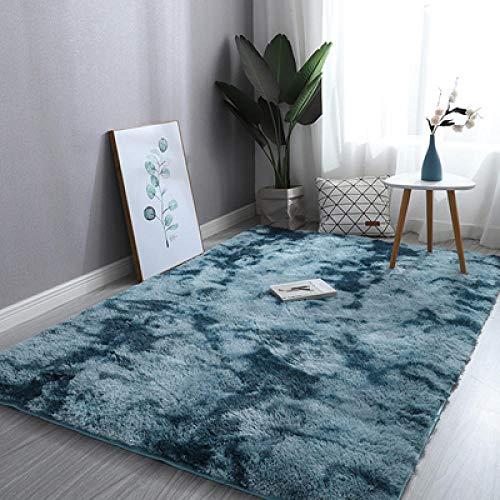 Innenteppichefarbverlauf Teppiche Schlafzimmer Wohnzimmer Dekor Rechteckiger Teppich Diverse Soft Area Teppich Teppich Mat-Slip-Dunkelblau_120X200Cm