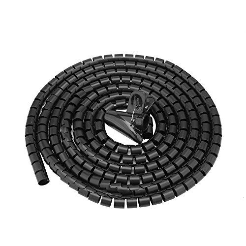 Camidy Tubo Flexible en Espiral Organizador de Cable Protector de Cable Protector...