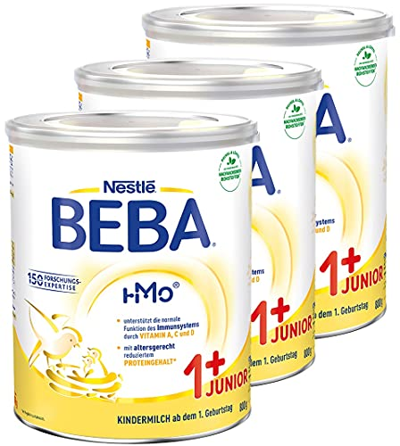 Nestlé BEBA JUNIOR 1 Milchgetränk ab dem 1. Geburtstag, 3er Pack (3 x 800g)