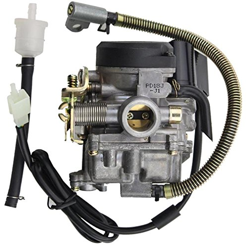 GOOFIT PD18J Carburetor with Accelerator Pump for 4 Stroke GY6 49cc 50cc 80cc Engine 139QMB 139QMA ATV Scooter