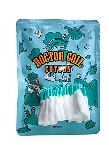 Advken Doctor Coil Cotton Box | vorgewickelte Wattesticks | 50 Baumwollstreifen mit Schnürsenkel | 3mm Innendurchmesser | für Selbstwickelverdampfer