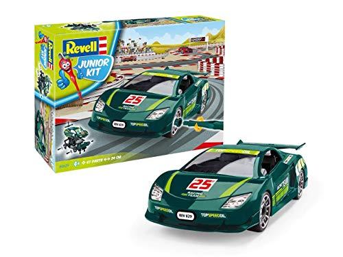 Revell 829 Rennwagen, kindgerechter Modellbausatz, Länge 24 cm Zubehör, grün