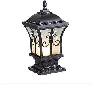Contemporary Style Wall Light E27 Aluminium Die-Casting Outdoor Column Pillar Lantern European Simple Post Lamp High Brigh...