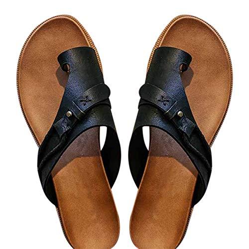 Sandalias de verano para mujer, sandalias de tacón plano con suela EVA, sandalias Carina para mujer con puntera abierta, sandalias para interiores y exteriores, sandalias para mujer