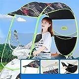 Paraguas Impermeable Plegable eléctrico de Bicicleta Universal, Cubierta de Lluvia Parasol, Paraguas de Motocicleta para Tipo con Espejo, D