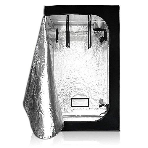 Wzz Growzelt Nicht Lichtdurchlässig, Sichtfenster Growbox Zuchtschrank Growtent Gewächszelt Zelt Homegrow Für Den Anbau Von Zimmerpflanzen, 47