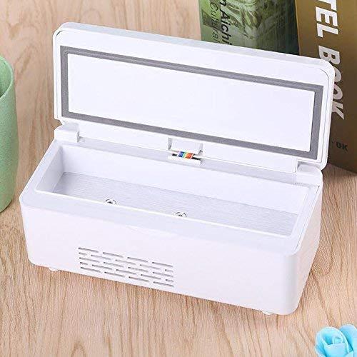 NLRHH Caja refrigerada portátil, refrigerador pequeño congelador Mini Recargable Recargable Caja de enfriamiento Inteligente portátil Mini refrigerador más frío Calentador-Blanco Peng