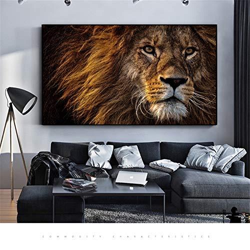 yaoxingfu Kein Rahmen Poster Löwe Bilder Leinwand ng Schwarz Und Weiß Stil Quadro Dekorative ng Wandkunst Für Wohnzimmer 30x45 cm