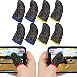 Genericc Finger Sleeves for Gaming, Ultra-Thin,Soft,Sensitive Shoot Aim,Anti-Sweat Breathable Touchscreen,Thumb Sleeves Mobile Gaming. (4 Pair)