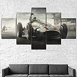 IIIUHU Bilder Abstrakt 5 Teilig Wandbild XXL Silberpfeile
