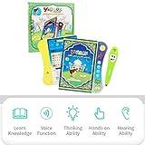Cokeymove Libro de Aprendizaje para niños, Juguetes de Estudio cognitivo de Lectura Multifuncional, Libro electrónico Audible en inglés con lápiz para el Desarrollo Infantil