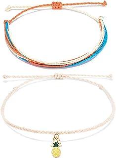 Jeka Waterproof Adjustable Boho Anklet Bracelets Set Multilayer Handmade Braided String Anklets Jewelry Gifts for Women Girl