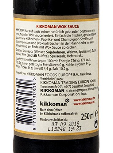 Kikkoman - Salsa Wok, 2 Recipientes de 250 ml, Total: 500 ml