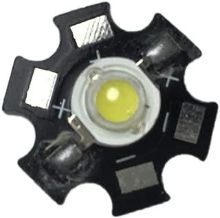 Led World 10 PCS 3W White High Power LED Light Emitter 6000-6500K with 20mm Star Base
