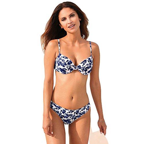 VENCA Bikini con Aros Estampado Sujetador de Copas con Aros y Relleno Mujer - 014887,Estampado Azul Marino,115B