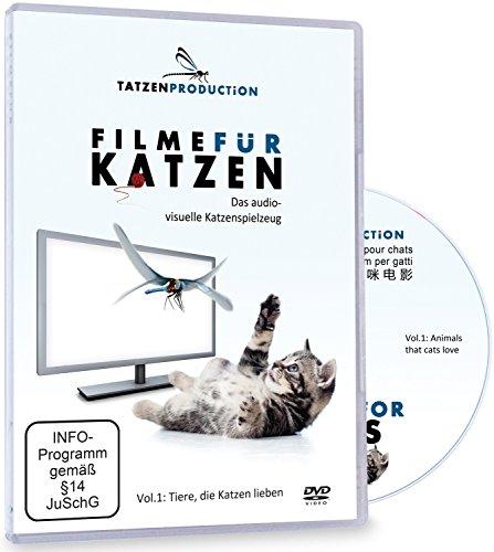 Schleiter & Jauernig SJ-KDVD Filme für Katzen - das Audio-Visuelle Katzenspielzeug - Vol.1: Tiere, Die Katzen lieben, KATZENLIEBHABER und Katzenfans Mehrfarbig, 200 g