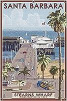 HDサンタバーバラカリフォルニア-Sterns Wharf(52*38cm成人向けプレミアム500ピースジグソーパズル、アメリカ製!)