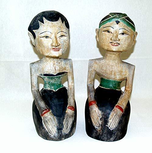 A-zone-art-house Loro Blonyo Holzfiguren Set aus Indonesien