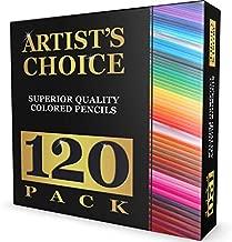 120 Colored Pencils (GIANT EXTRA LARGE SET) - 120 Unique Colors (NO DUPLICATES) - Premium Grade & Pre-Sharpened - Color Coordinating Barrels - Perfect for Kids, Art School Students, or Professionals!