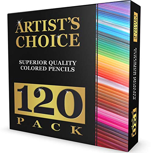 120 Colored Pencils GIANT EXTRA LARGE SET  120 Unique Colors NO DUPLICATES  Premium Grade amp PreSharpened  Color Coordinating Barrels  Perfect for Kids Art School Students or Professionals