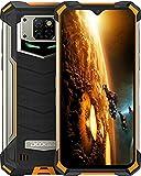 DOOGEE S88 Pro Movil 10000mAh, 6GB + 128GB, Cámara Triples 21MP+Cámara Frontal 16MP, 6.3 FHD, IP68/IP69K 4G Móvil Resistente Android 10, LED/NFC/GPS, Telefono Libre Soporte Carga Inalámbrica, Naranja