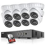 Annke 3MP Kit de Surveillance 8CH DVR H.265+ et 8 Caméra de Surveillance avec LED infrarouges CCTV Boîtier en Métal...