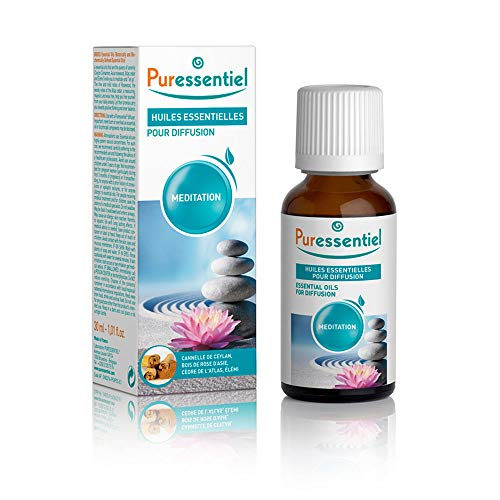 Puressentiel - Huiles Essentielles pour Diffusion - Diffuse Méditation - 100% pures et naturelles - Aide à trouver la sérénité - 30 ml